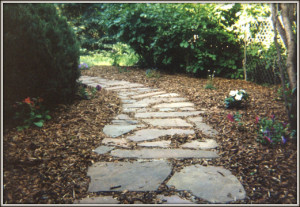 Maxine's first flagstone walkway